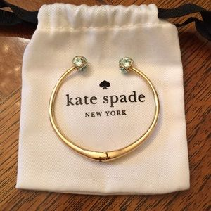 Kate Spade Lady Marmalade Aqua Crystal Open Cuff